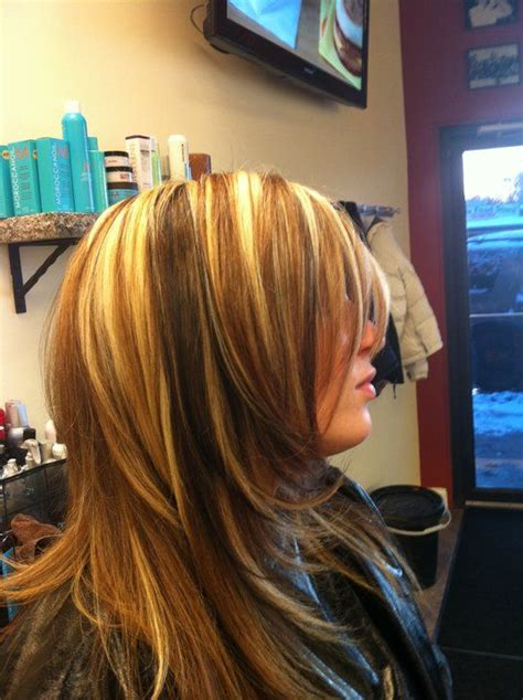 hair frosting high and low lights low lights chunky highlights and hair on pinterest