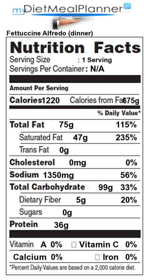 Olive Garden Calories Fast Food Nutrition Facts Nutrition Facts Label Popular Chain Restaurants 29 Mydietmealplanner