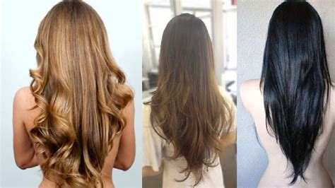 long v cut hairstyle pictures intended for invigorate v layered haircut for long hair youtube