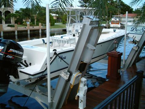 Berm House by Elevator Boat Lifts Custom Elevator Boat Lifts In South