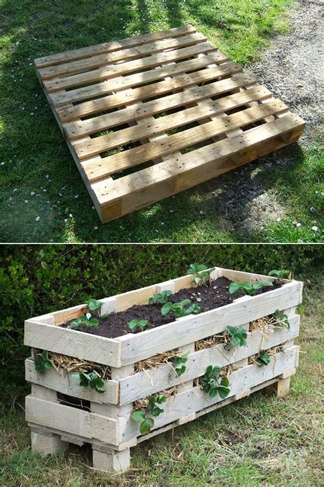 how to make a better strawberry pallet planter diy craft