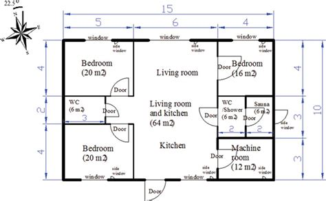 a floorplan of a single family house all dimensions in