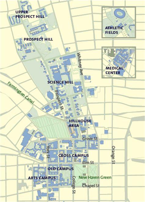 printable yale map yale university cus map