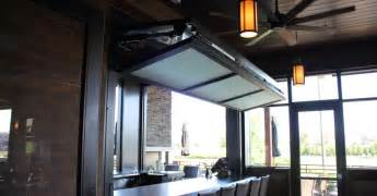 Folding Glass Garage Doors Bifold Door Counter Top At Granite City Brewery In