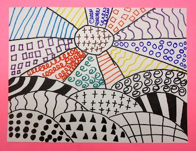 pattern art lesson grade 1 1st grade patterned landscape art lessons elementary 1