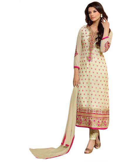 uttam vastra dress materials uttam vastra beige georgette straight unstitched dress