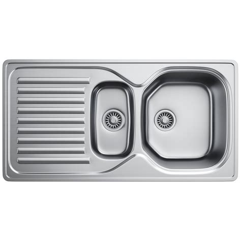 Franke Stainless Steel Kitchen Sink Franke Elba Eln 651 Stainless Steel 1 5 Bowl Inset Kitchen Sink 1010017494 Bom