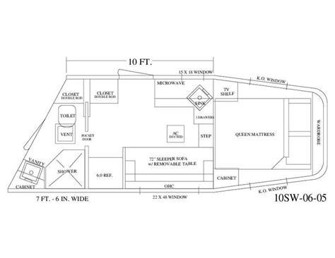 trailer living quarter floor plans 1000 images about living quarter floor plans on