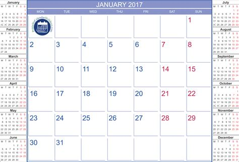 printable calendar january printable calendar january 2017 printable 2017 calendar