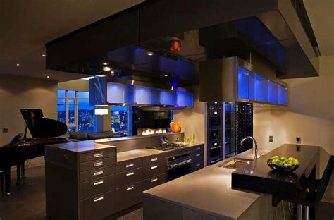 Contemporary Kitchens Awesome Ideas The Splendor Of Modern Waterfront Penthouse In Vancouver Simple Home Design