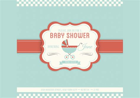 baby shower vector invitation template download free