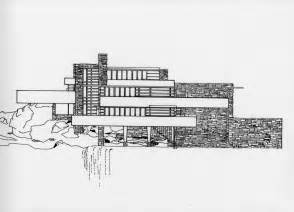 falling water floor plan pdf south elevation front view of fallingwater facing