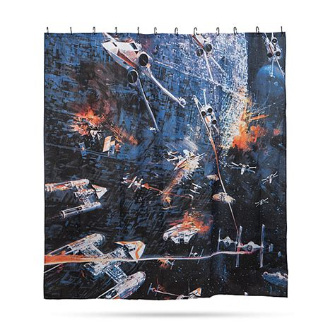 star wars shower curtains star wars movie posters shower curtains thinkgeek