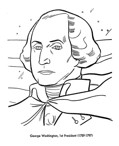 george washington coloring page for kindergarten george washington coloring pages presidents day