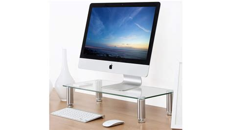 monitor mount for glass desk top 10 best monitor desk risers 2018 your easy buying