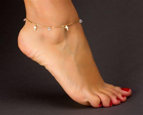 cross anklet anklet gold ankle bracelet