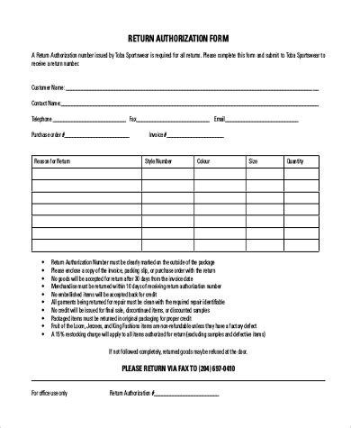 return to vendor form template return to vendor form template jose mulinohouse co