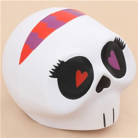 Jumbo Skull toyboxshop jumbo white skull purple eye scented