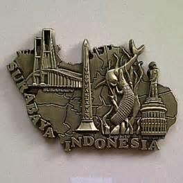 Souvenir Indonesia Magnet Kulkas Garuda jual souvenir magnet kulkas surabaya metal indonesia