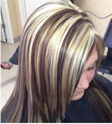 blonde hair with chunky high and low lights dark brown hairs 1000 ideas about chunky highlights on pinterest