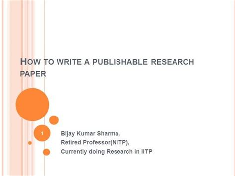 How To Make Research Paper Presentation - how to write a research paper authorstream
