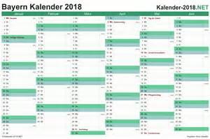 Kalender 2018 Schulferien Bayern Kalender 2018 Bayern