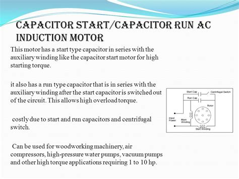 capacitor run motor characteristics capacitor start and run induction motor ppt 28 images 3 answers why ceilling fan motor