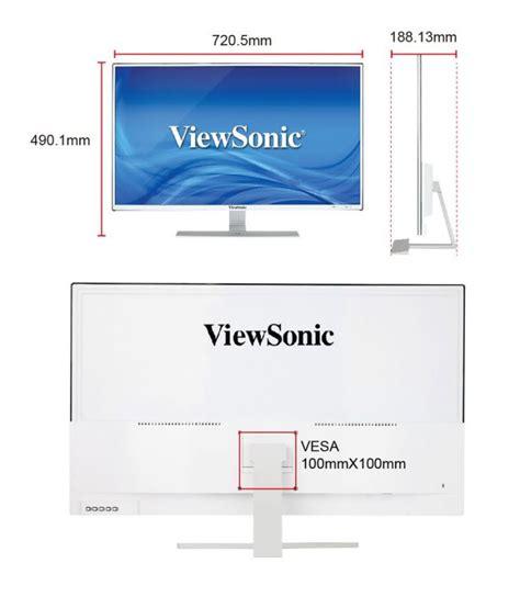 Monitor Led Viewsonic 32 2k Vx3209 Ips 32 quot viewsonic vx3209 2k wqhd ips led white monitor 766907841213 ebay