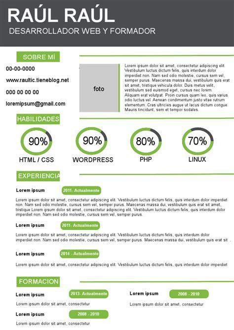Modelo Cv España Formatos De Cv Gse Bookbinder Co
