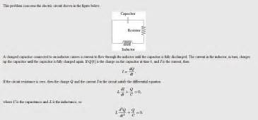 tesla resistor datasheet a charged capacitor and inductor are connected in series 28 images an exle circuit with an