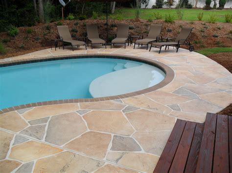 concrete flagstone simulation pool deck   G2