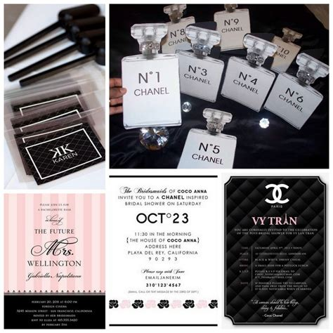 Wedding Channel Website by The Ultimate Chanel Themed Bridal Shower