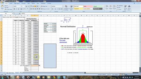 how calculate standard deviation in excel charibas ga