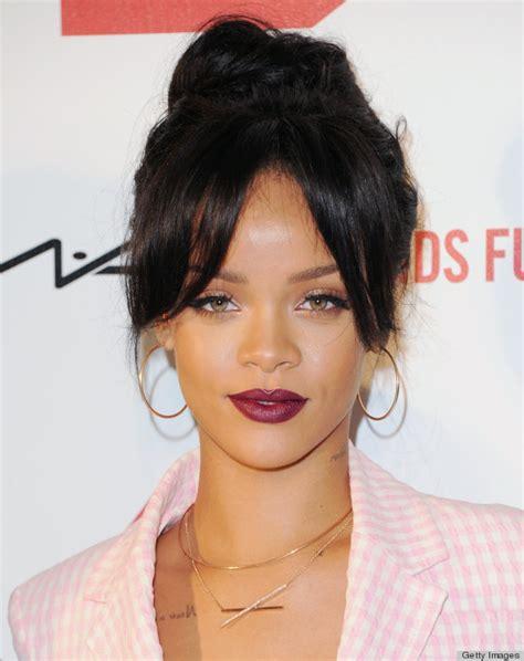 Rihanna Syari Blue pics for gt rihanna purple lipstick 2015