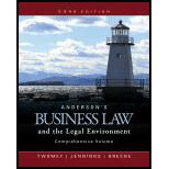 Anderson S Business Law And The Legal Environment