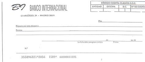 imagenes de cheques en blanco para imprimir cheque funcionesauxiliarcontable
