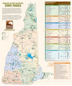 State Parks Map by New Hampshire State Parks Map