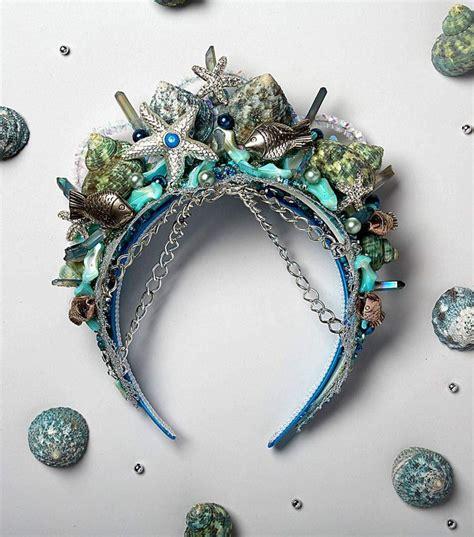 1000 Images About Mermaid Crowns Meer Dan 1000 Idee 235 N Fabric Crown Op Vilten Kroon Verjaardag Kronen En Crown