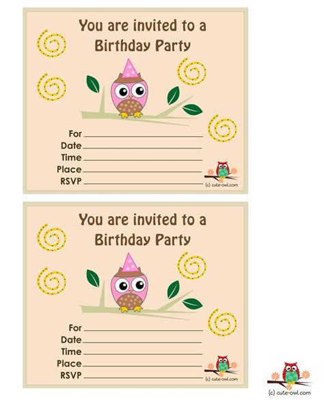 printable owl birthday card 15 best free printable owl birthday stuff images on