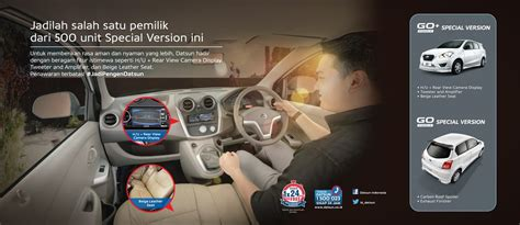 Roof Monitor Datsun indonesia gets datsun go go special edition with beige leather seats and rear parking