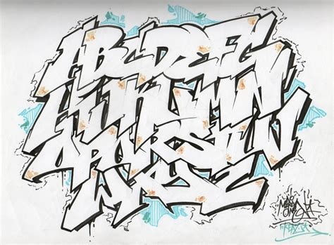 White Letters Sketch 1 a b c metal flickr