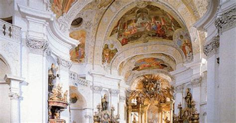 beautiful baroque architecture inside rottenbuch abbey baroque architecture germany interior of benedictine