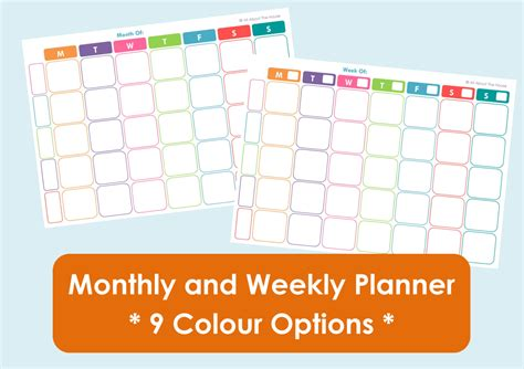 free family monthly calendar template printable weekly family planner and monthly calendar 9