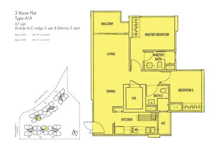 Parkland Residences Floor Plan by Belvia 3 Room Floor Plan Dbss Homes