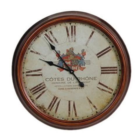 french style cotes du rhone wine theme wall clock 60cm