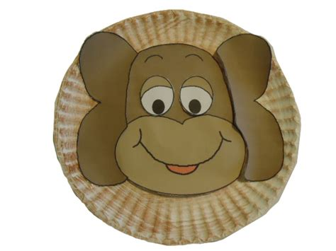 Paper Plate Monkey Craft - monkey paper plate template