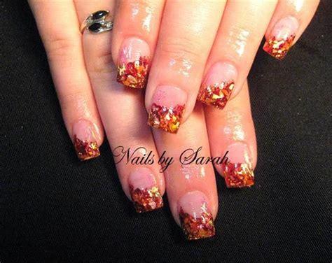leaf pattern nails autumn leaves nails make up pinterest