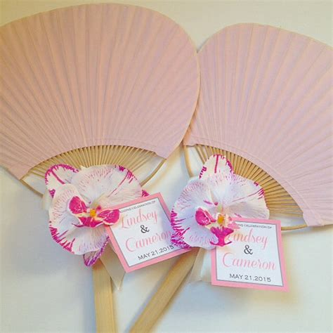 Handmade Fans For Weddings - paddle fan with orchid rainbow paddle fan wedding