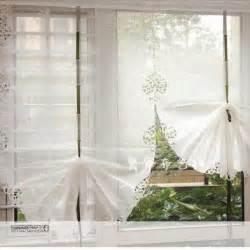 White Balloon Curtains Aliexpress Buy Beautiful White Balloon Curtains Yarn Embroidery Window Cortinas Living