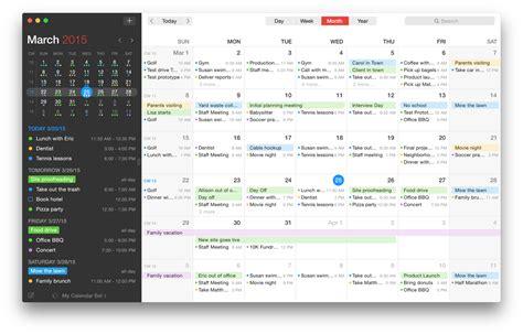 Calendar App Month View Iphone Fantastical 2 A Featured Calendar App For Os X